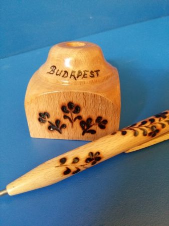 Fa toll - asztali tartóval - Futó virág - magyaros