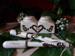 Esküvői aláíró toll - Asztali tartóval készített tollak - különleges ajándék esküvőre