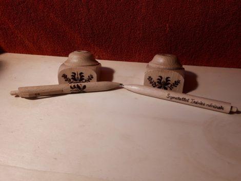 Névre szóló fa toll - tanári ajándék