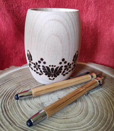 Érintős toll - bambuszból  Több funkciós