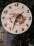 Egyedi óra - Halas - Csuka rajzzal