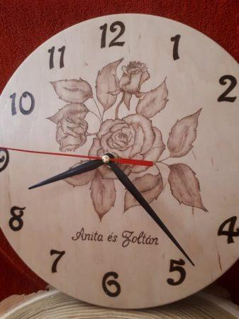 Rózsás falióra - Rózsacsokor szerelmemnek