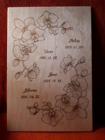 Fali kép - Egyedi - orchidea