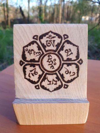 Tibeti mantra, mandalás - egyedi mobiltelefon tartó